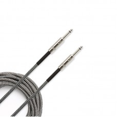 D'addario Braided Instrument Cable - Grey - 3 Meter