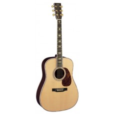 Martin Guitar D-45 Dreadnought Semi-Acoustic - Fishman Ellipse Matrix Blend Pickup - Natural - Includes Martin Hard Shell Case