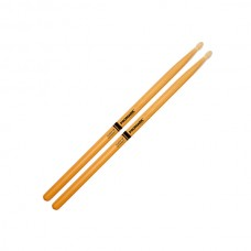 Pro Mark Drumsticks Classic 2B ActiveGrip Clear- Oval Wooden Tip