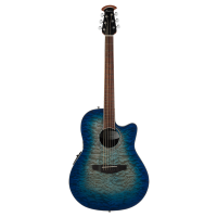 Ovation The Celebrity® Collection Celebrity Standard® Exotic- Super Shallow - Semi Acoustic - Caribbean Blue On Exotic Quilted Maple