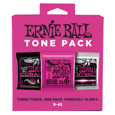 Ernie Ball P03333 Super Slinky Electric Tone Pack - 3 Different Sets - 0.09-0.42 Gauge