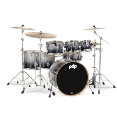 PDP Concept Maple 7-Piece Drum Shell Pack - Silver To Black  ( Without Cymbals )