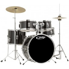 PDP Player 5-piece Complete Junior Drum Set With Cymbals - Piano Black