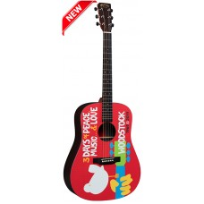 Martin Guitar DX Woodstock 50th Anniversary - Woodstock Design - Semi Acoustic - Includes B02W Padded Case