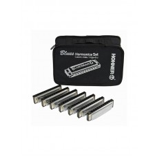 Hohner 7 Blues Harmonica Set - In Keys: G, A, Bb, C, D, E, F