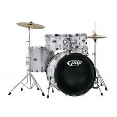 PDP Center Stage 5-Piece Drum Set With Hardware And Cymbals - Diamond Silver