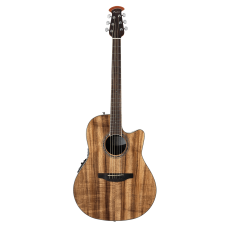 Ovation The Celebrity® Collection Celebrity Standard® Exotic Mid Depth Semi Acoustic - Natural On Exotic Flamed Koa