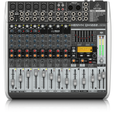 Behringer Xenyx QX1222USB Mixer with USB and Effects - 12 Channels