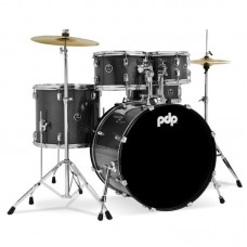 PDP Center Stage 5-Piece Drum Set With Hardware And Cymbals - Silver Sparkle