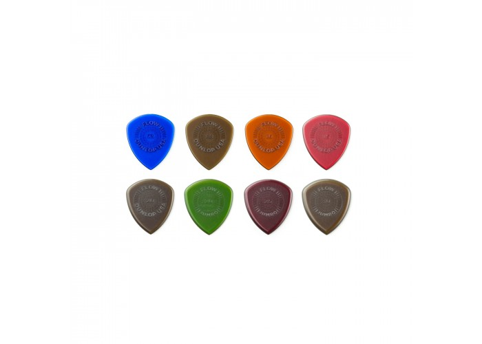 Dunlop PVP114 Pick Flow Variety Pack - .73mm to 3.0mm - 8 Pick Per Pack