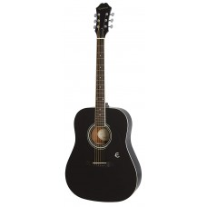 Epiphone Dreadnought Acoustic Guitar FT-100 - Ebony - Includes Free Softcase