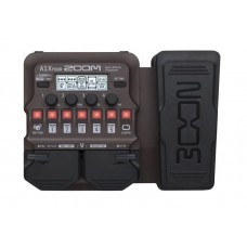 Zoom A1X Four Acoustic Instrument Multi-Effect Processor With Expression Pedal