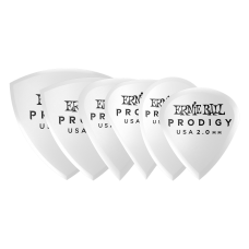 Ernie Ball Prodigy Picks Feature Highly Durable Delrin Material - 2.0mm White - Bag Of 6