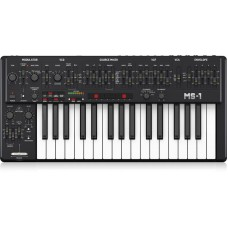 Behringer MS-1-BK Analog Synthesizer with 32 Full-Size Keys, 3340 VCO with 4 Simultaneous Waveforms, VCF, NovaMod FM Sources, 32-Step Sequencer, Arpeggiator and Live Performance Kit
