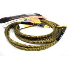 Lava Cable Vintage Tweed Instrument Cable 10' Angled-Straight