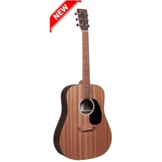 Martin D-X2E Dreadnought Acoustic-Electric Guitar - Natural with Macassar Ebony - Martin Gig Bag Included