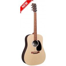 Martin D-X2E Dreadnought Acoustic-Electric Guitar - Natural with Rosewood - Martin Gig Bag Included