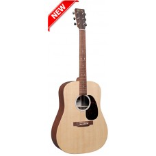Martin D-X2E Dreadnought Acoustic-Electric Guitar - Natural With Sapele - Martin Gig Bag Included