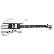 Schecter Electric Guitar Synyster Standard - Gloss White With Black Pinstripes