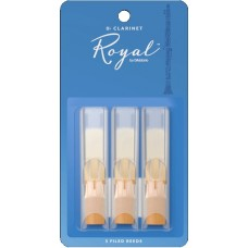Rico by D'Addario Royal Bb Clarinet Reeds - Strength 2.5 - Box Of 3 Pieces