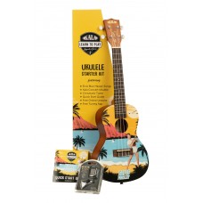 Kala Learn To Play Elvis Presley Concert Ukulele Starter Kit - Blue Hawaii