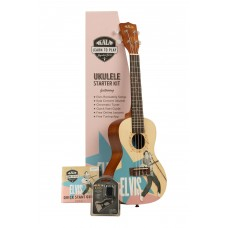 Kala Learn To Play Elvis Presley Concert Ukulele Starter Kit - Rockabilly