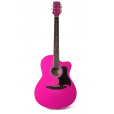 Carlos Acoustic Guitar C901 - Pink - Include Free Soft Case