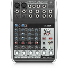 Behringer Premium 8-Input 2-Bus Mixer with XENYX Mic Preamps & Compressors, British EQs and USB/Audio Interface