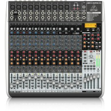 Behringer Premium 24-Input 4/2-Bus Mixer with XENYX Mic Preamps & Compressors, Klark Teknik Multi-FX Processor, Wireless Option and USB/Audio Interface