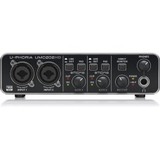 Behringer U-Phoria UMC202HD USB Audio Interface with Midas Mic Preamplifiers