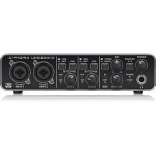 Behringer U-Phoria UMC204HD USB Audio Interface with Midas Mic Preamplifiers
