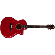 Taylor guitar 214ce Deluxe Grand Auditorium - Red - Includes Taylor Deluxe Hardshell Brown