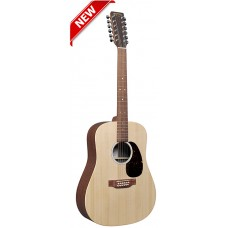 Martin 12 String Guitar D-X2E12 Dreadnought Acoustic-Electric Guitar - Natural - Martin Gig Bag Included