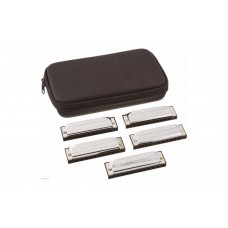 "Hohner Diatonic Harmonica M5605XP Special 20 560/20 Pack of 5 Keys "" C, D, E, G, and A "" - Progressive Series"