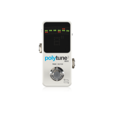 TC Electronic PolyTune 3 Mini Polyphonic Tuning Pedal with Selectable Analog Buffer - White
