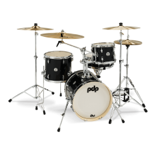 PDP New Yorker 4 Piece Acoustic Drum Kit - Onyx Sparkle ( Black ) - 10 13 18 13 Inch - WITHOUT HARDWARE AND CYMBALS