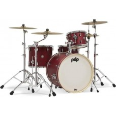 PDP New Yorker 4 Piece Acoustic Drum Kit - Ruby Sparkle ( Red ) - 10 13 18 13 Inch - WITHOUT HARDWARE AND CYMBALS