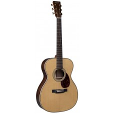 Martin Guitar OM-28E Modern Deluxe - Orchestra - Acoustic-Electric Guitar With Fishman Aura VT Blend Electronics  - Natural - Martin Hardshell Case