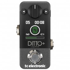 TC Electronic Ditto+ Looper Pedal - 9V DC Power Supply (sold separately)