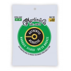 Martin Authentic Acoustic Marquis Silked Guitar Strings - 80/20 Bronze Extra Light - 010 -.047 - MA170S