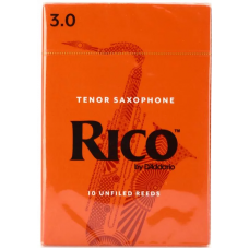 Rico by D'Addario Tenor Saxophone Reeds - Strength 3 - Box Of 10 Pieces