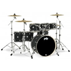 PDP Concept Maple Shell Pack - 7-piece Drum set - Satin Black ( WITHOUT CYMBALS )