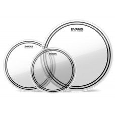 Evans EC2 Clear 3-piece Tom Pack - 10/12/14 inch