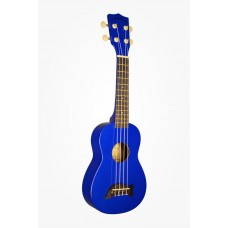 Makala Dolphin Series Soprano Ukulele - Included Bag - Metallic Blue