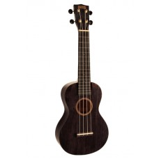 Mahalo Ukulele Concert Hano Series Translucent Black MH2TBK With Bag