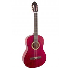 Valencia Classical Guitar Transparent Wine Red VC204TWR - Includes Free Softcase